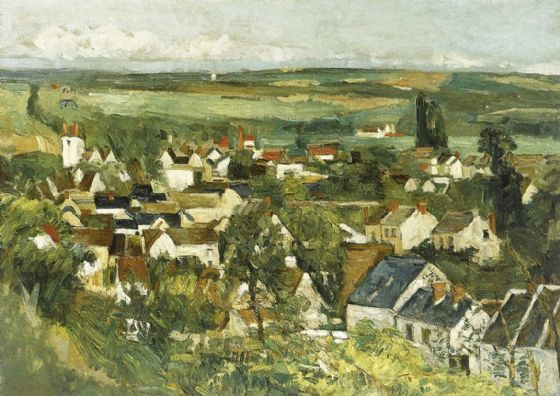 Cezanne, Paul: Panoramic View of Auvers-sur-Oise. Fine Art Print/Poster. Sizes: A4/A3/A2/A1 (004209)